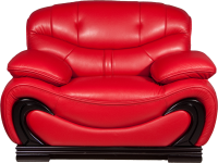 Red armchair PNG image