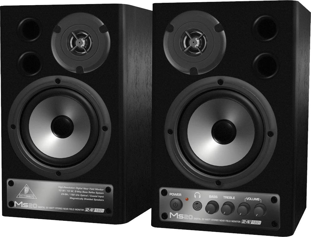 Audio speakers PNG