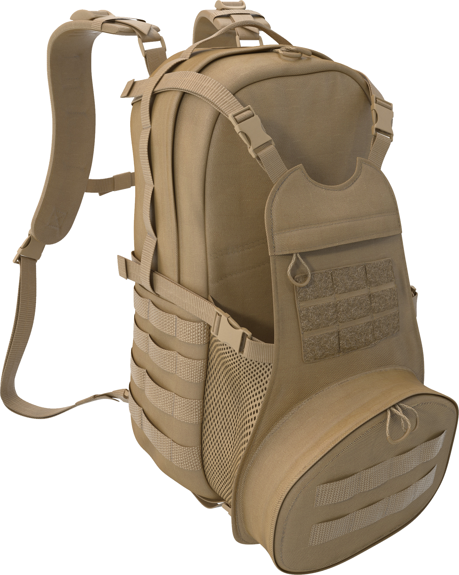 Military backpack PNG image