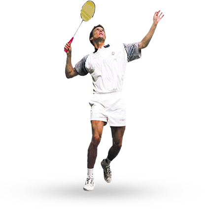 Badminton player PNG image