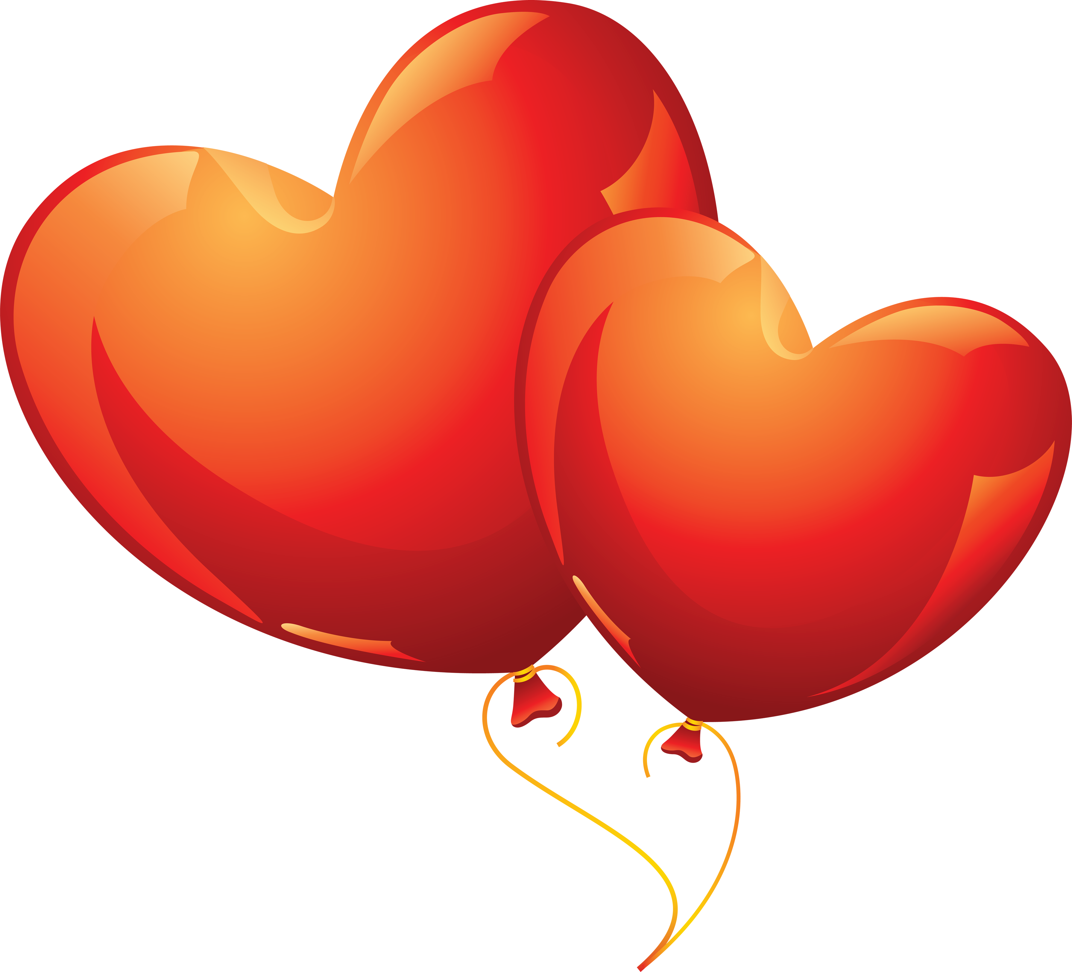 Heart balloon PNG image, free download, heart balloons