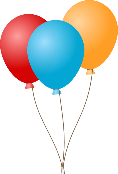 Colorful balloons PNG image, free download, balloons