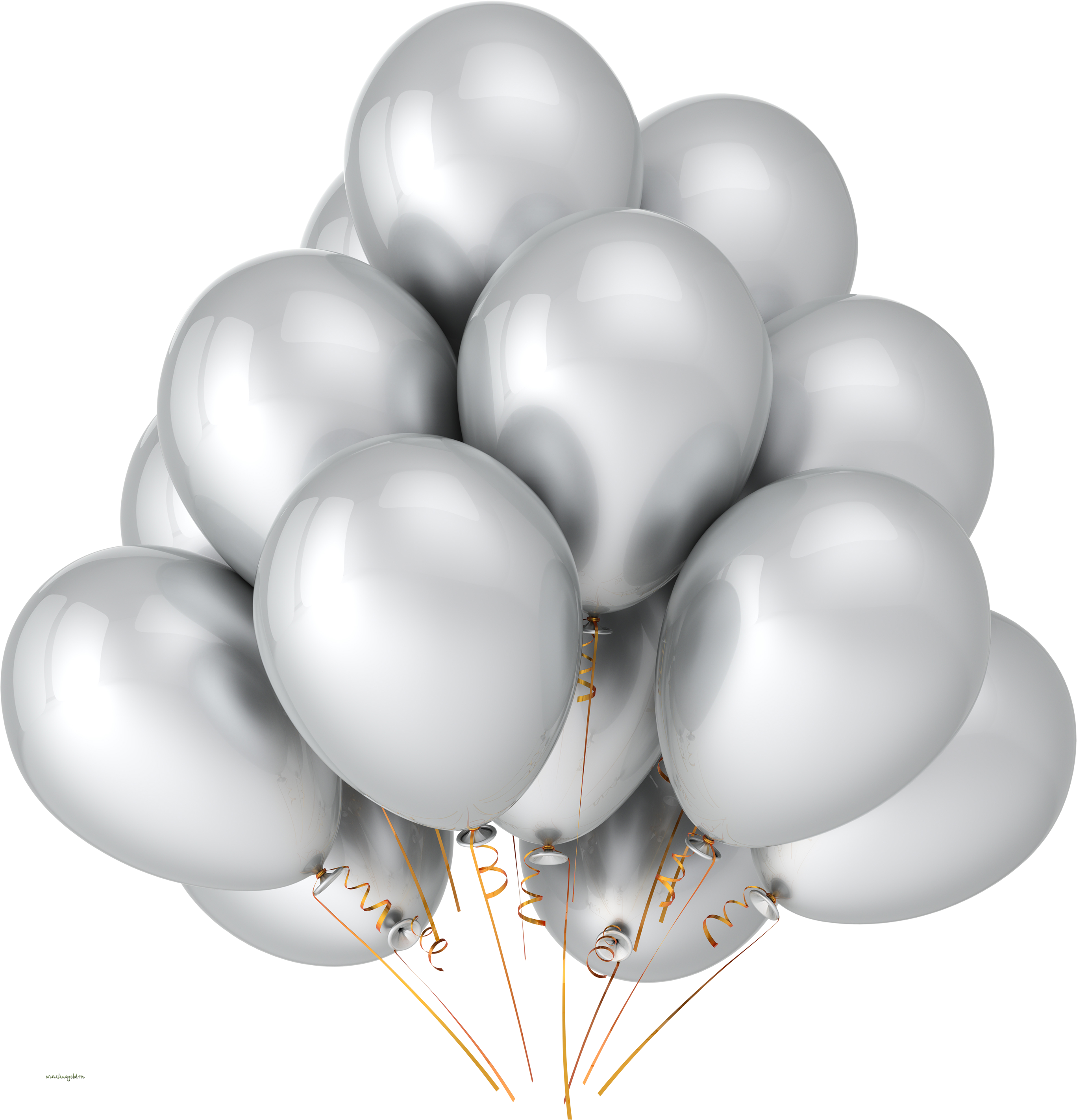 Yellow balloons PNG image, free download, balloons