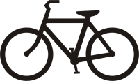 Bicycle black siluete PNG image