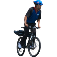 Man on bicycle PNG image