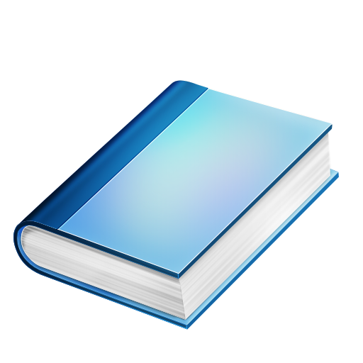 Blue book PNG image, free image