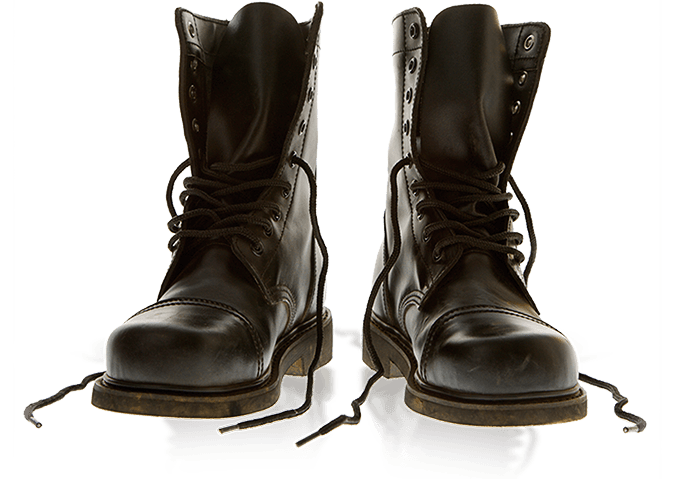 Combat boots PNG image