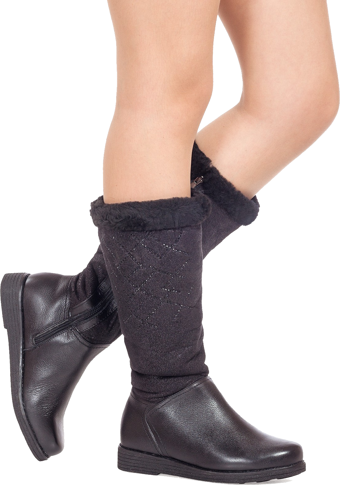 Boots on legs PNG image