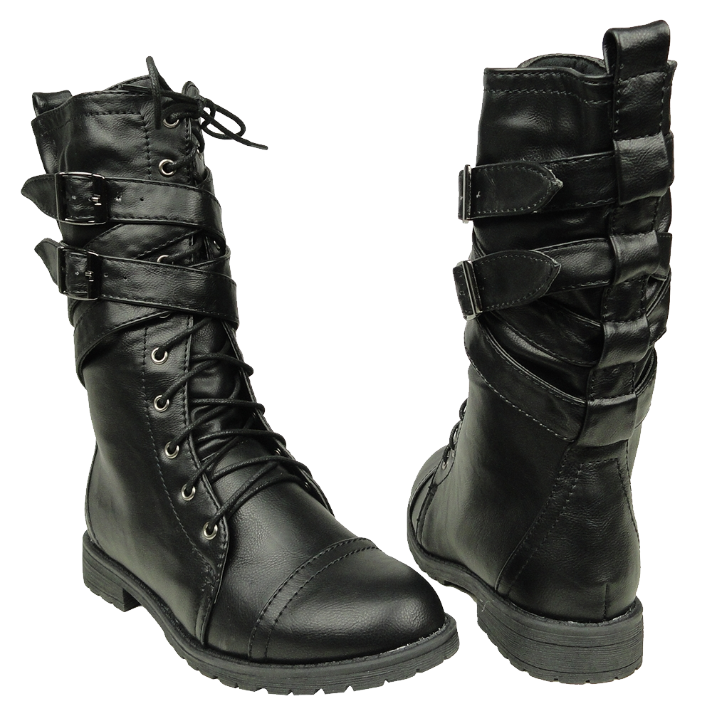 Black boots PNG image