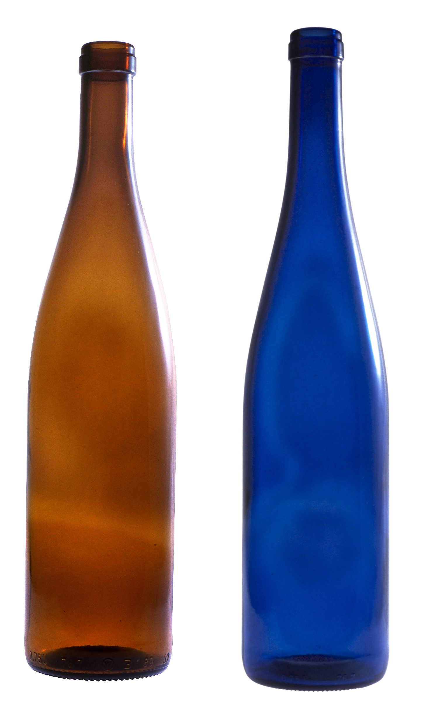 glass empty bottles PNG image