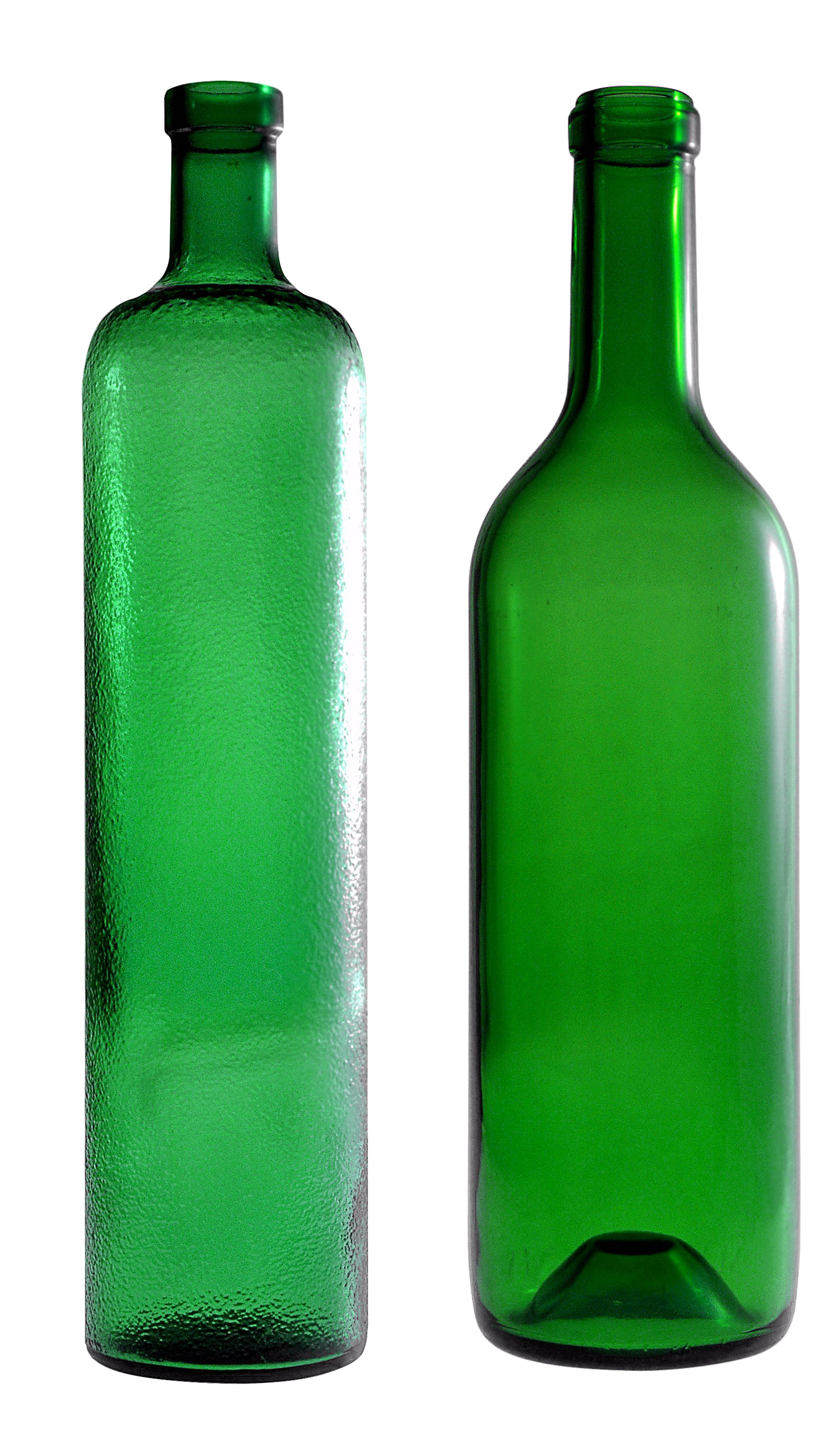 empty green glass bottle PNG image