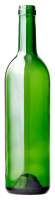 Glass green bottle PNG image