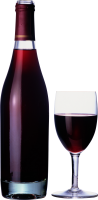 wine glass bottle PNG