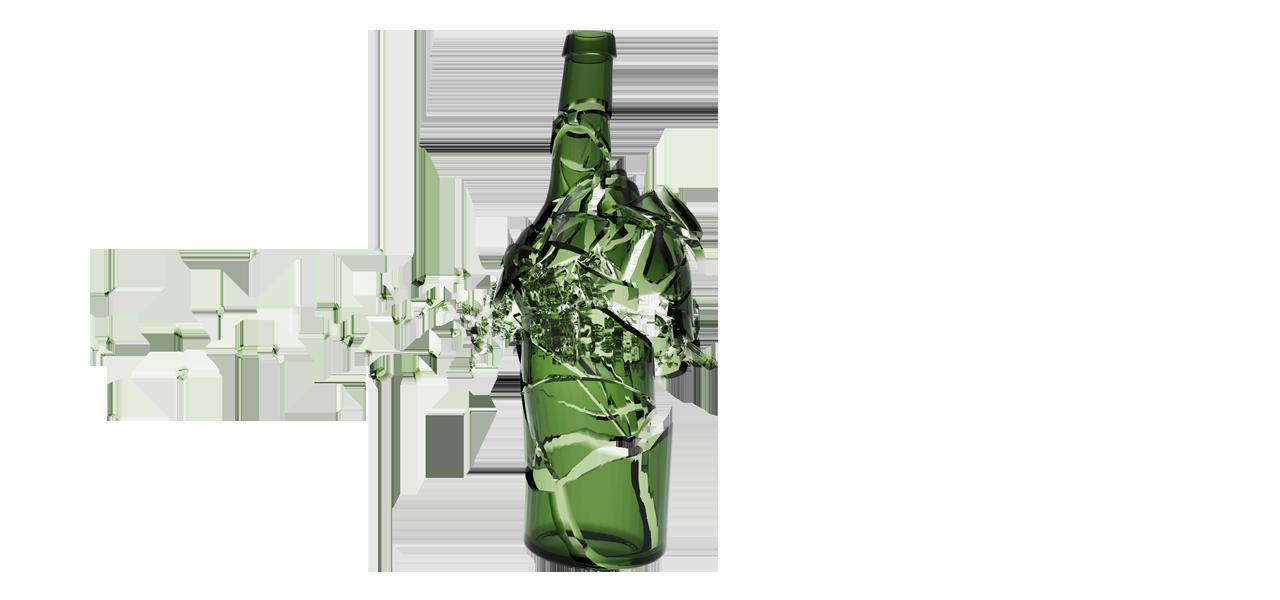 Broken bottle PNG