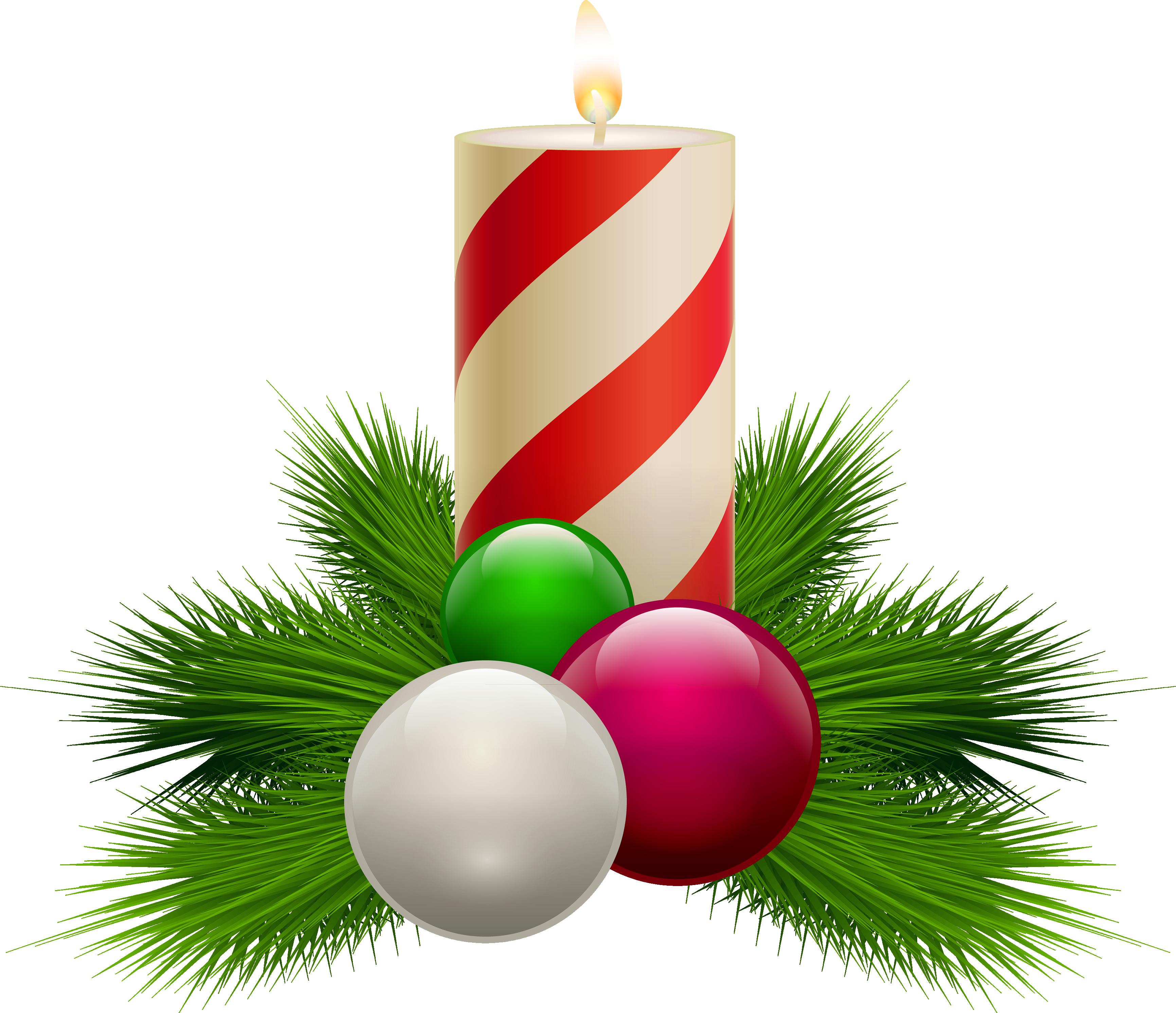 Christmas candle PNG image