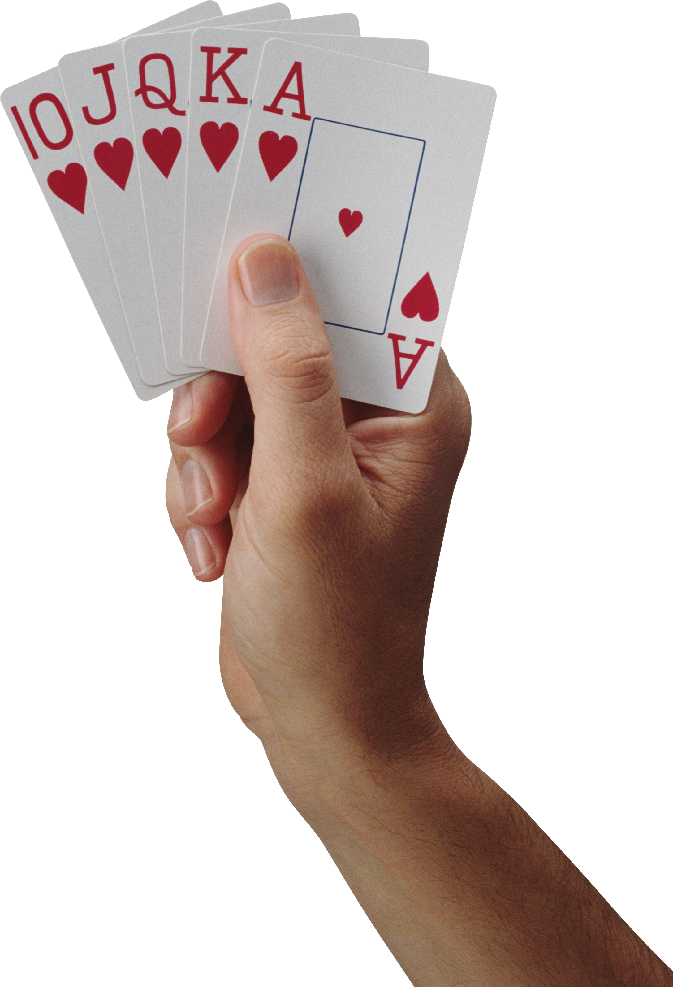 Cards in hand PNG