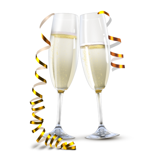 Champagne glasses PNG