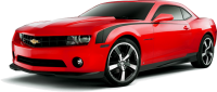 red Chevrolet Camaro PNG