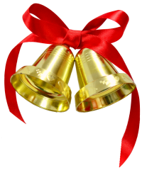 Christmas bell PNG image