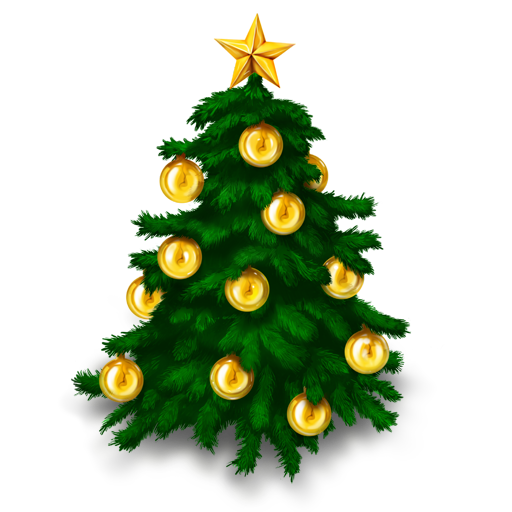 Christmas fir-tree PNG image