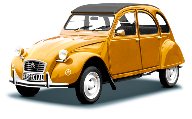 Citroen old car PNG