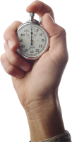 Stopwatch in hand PNG image