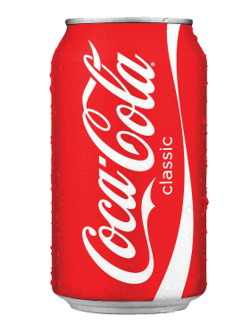 Coca Cola can PNG image