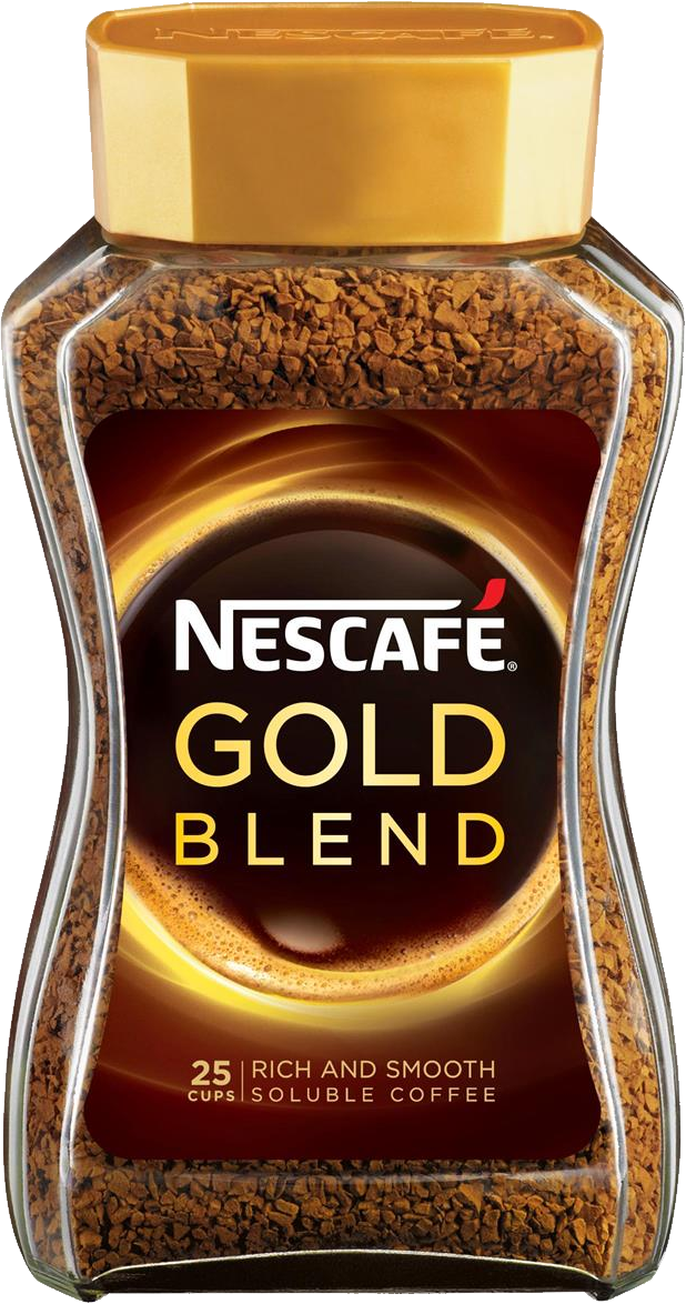 Coffee Nescafe Gold jar PNG