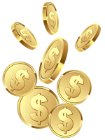 gold coins PNG image