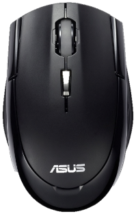 Black PC mouse PNG image