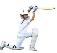 Cricket player PNG