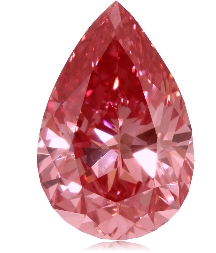 Red drop diamond PNG image