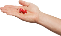 Dice in hand PNG