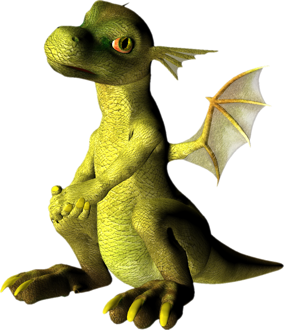 Green dragon PNG images, free drago picture