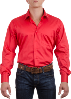 Red dress shirt PNG image