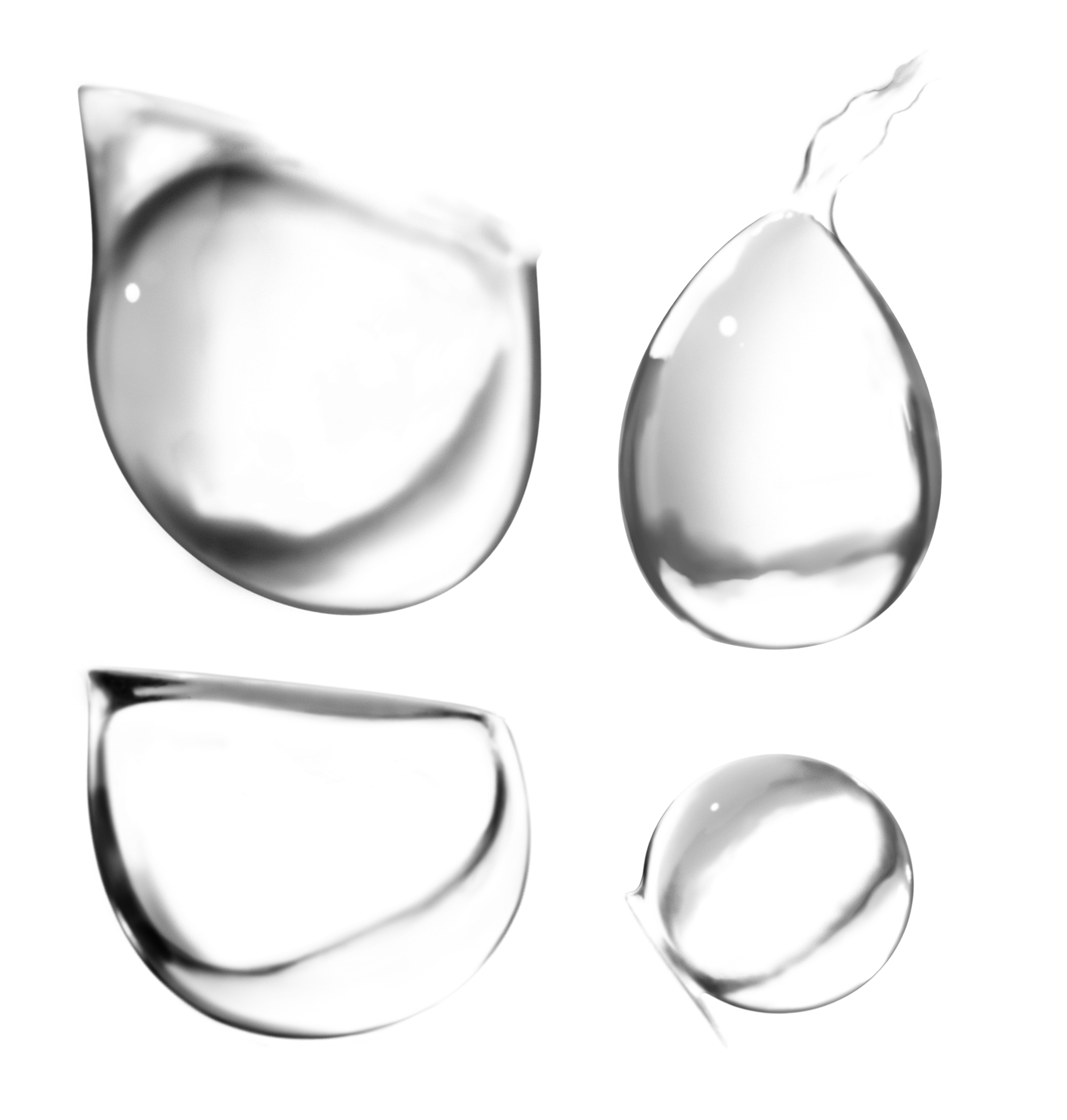 Water drops PNG