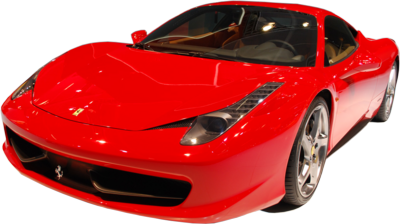 red ferrari car PNG image