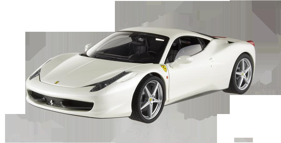 White Ferrari Car Png Image