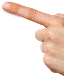 Finger touch PNG image