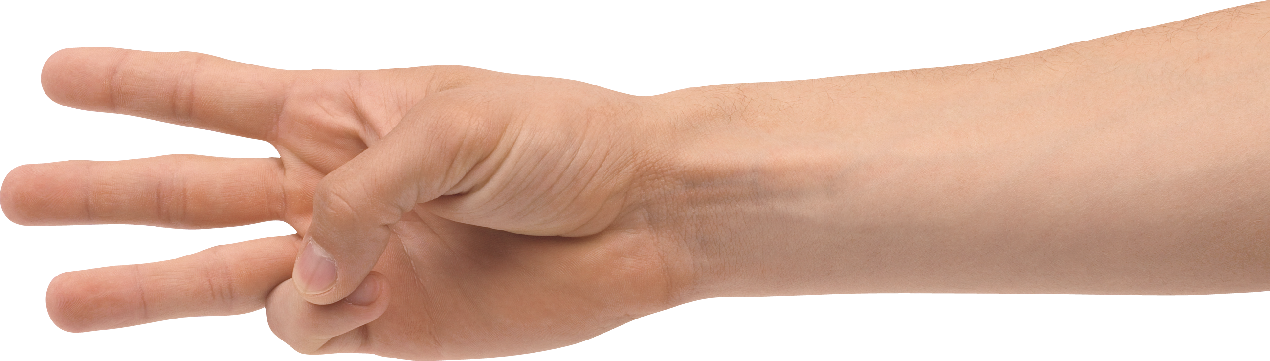 three fingers PNG image
