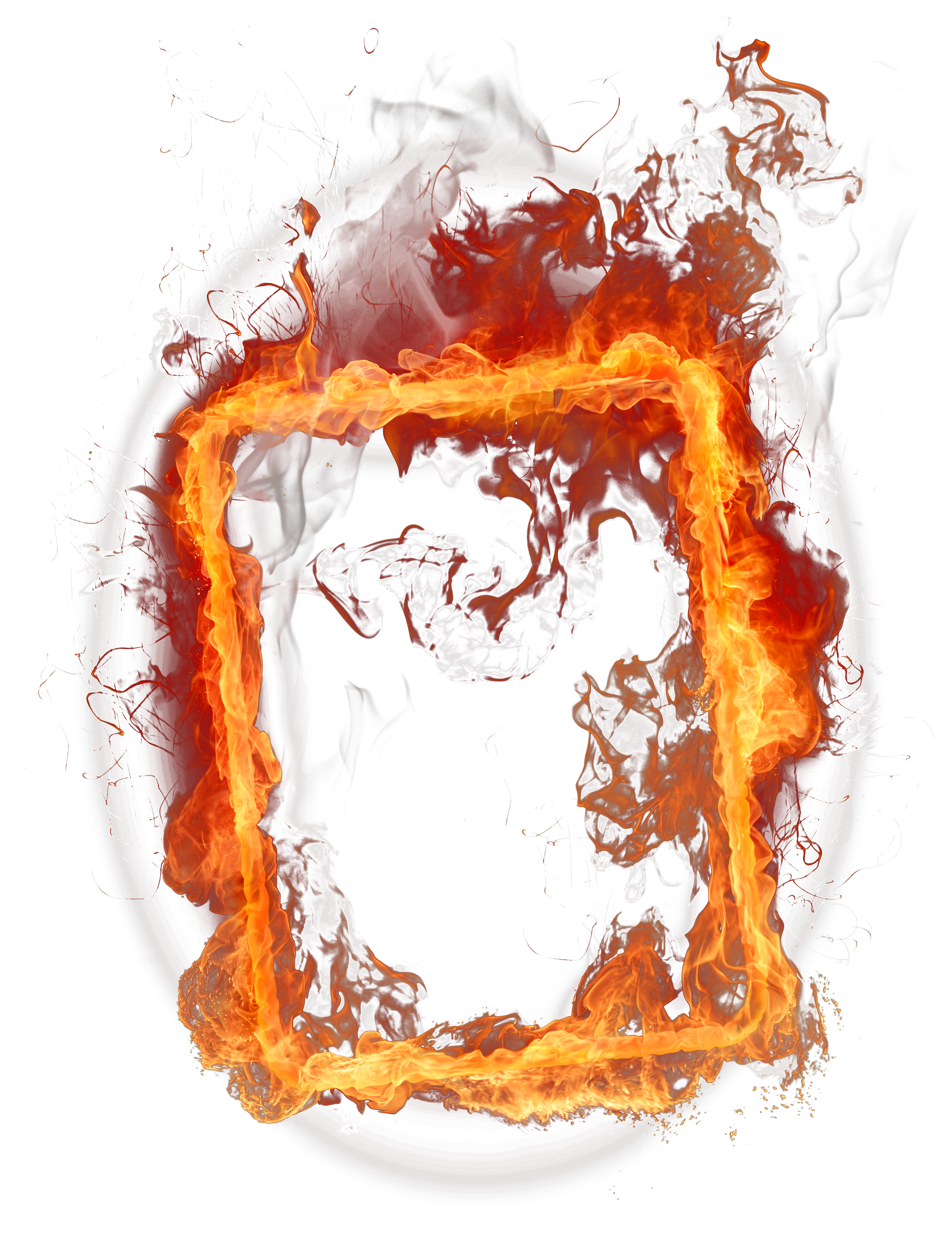 Fire frame PNG image