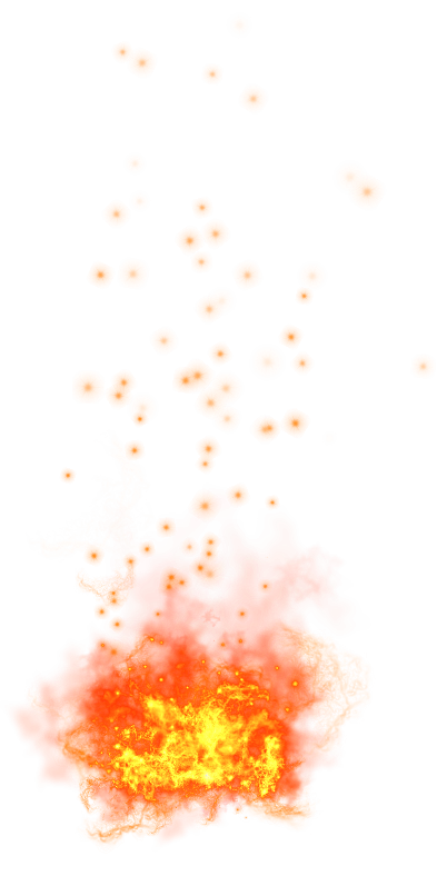 Fire transparent PNG image