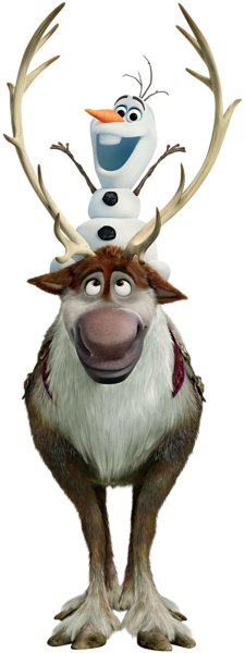 Frozen Sven and Olaf PNG