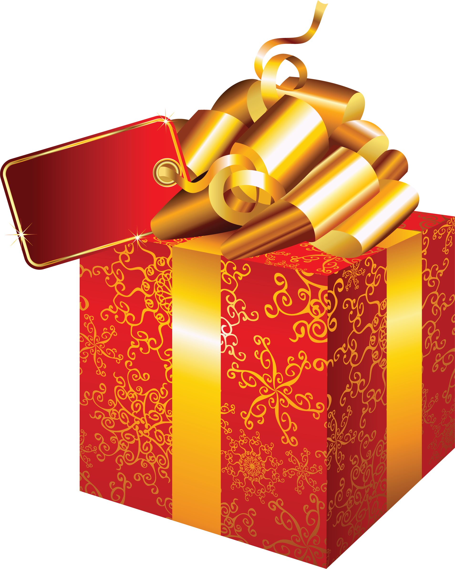 Gift red box PNG image