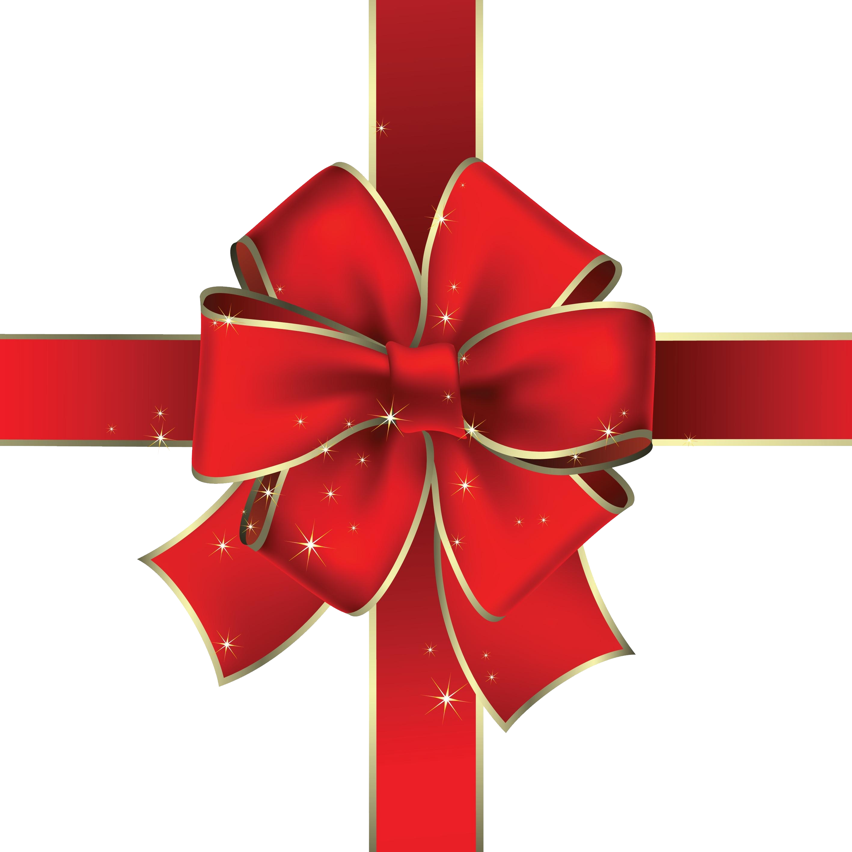Gift red ribbon PNG image