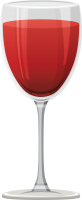 Red wine glass PNG image