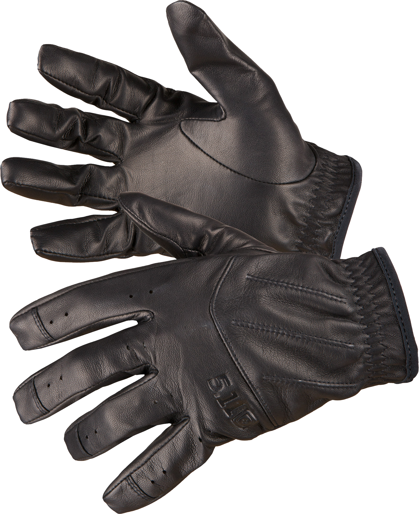 Black leather gloves PNG image