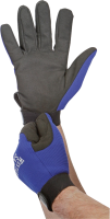 Gloves on hands PNG image