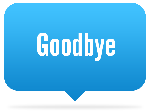 Goodbye PNG transparent