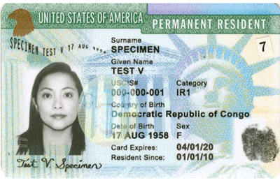 Green card PNG